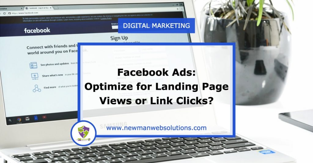 Facebook Advertisements - should you optimize for landing pages or link clicks?