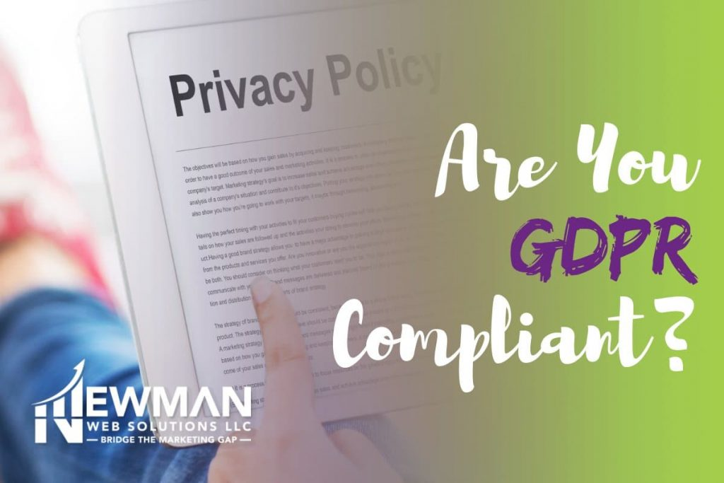 Are you gdpr compliant? Featured image for blog post